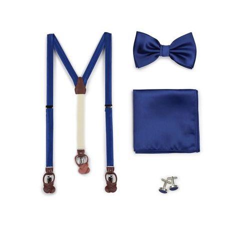 Stripe linen light grey white bowtie Cesar Men/'s Bow tie
