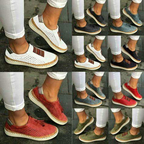 Damen Sneaker Turnschuhe Freizeitschuhe Sportschuhe Loafer