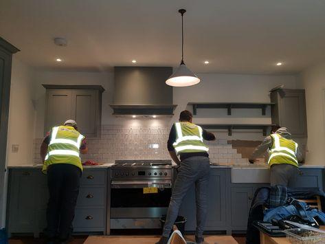 One should not have that much fun at work! #progress #almostthere #home#house #houseextension #kitchen #newkitchen #londonconstruction #theend #hivis #builder #kitchenideas #homedesign #interiordesign #homedesignideas #funatwork #builderslife
