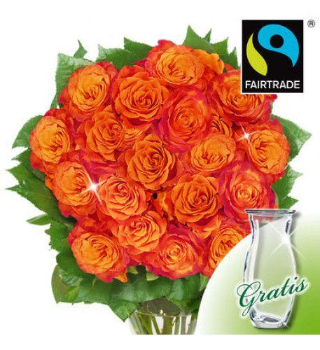 Orange Rosen Blumenstrauss Fur Mutter Geburtstag Blumen Blumen