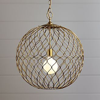 Pendant Lighting And Chandeliers Crate And Barrel With Images