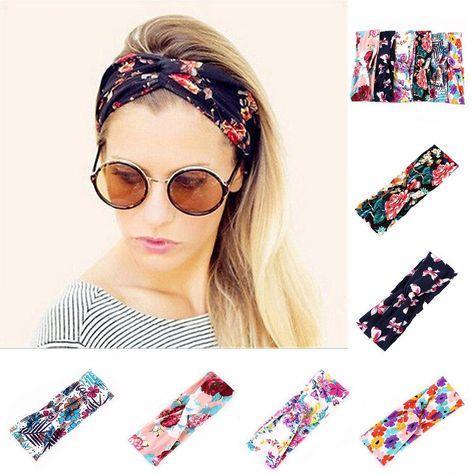 807c0cd8aa7 Women Yoga Elastic Bow Hairband Headwear Turban Boho Rabbit Hair Band  Headband