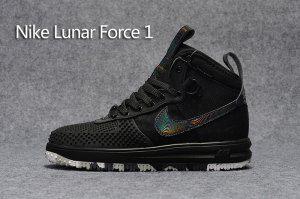Nike Air Force 1 High KPU Black White Men Shoes