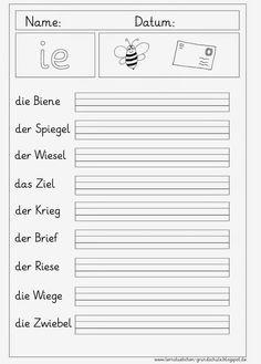 Arbeitsblätter Schreiben Grundschule | Lernen - Grundschule ...
