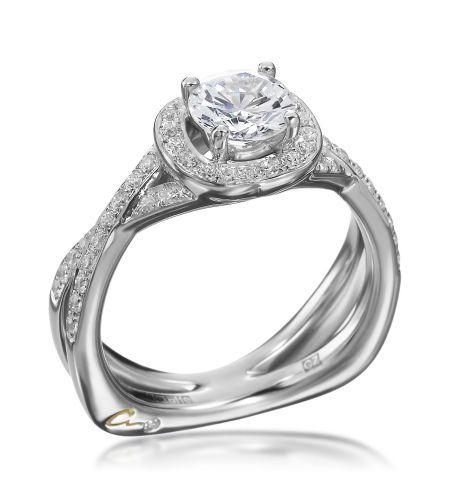 A. Jaffe - Signature Collection 18K White Gold Diamond Pave Setting