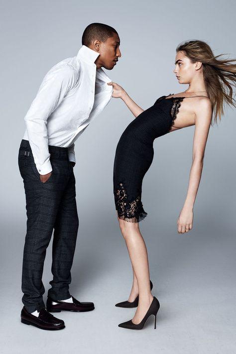 Cara Delevingne and Pharrell Williams - September 2013