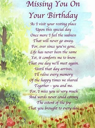 Image Result For Sisters Birthday In Heaven Poem