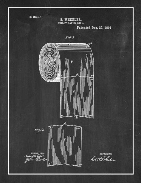 Toilet Paper Roll Patent Print Toilet Paper Patent Print Toilet Paper Patent Toilet Paper