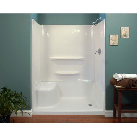 Free Shipping Buy Hazelwood Home 59 X 60 X 32 Shower Wall At Walmart Com Shower Wall Kits Shower Wall Shower Remodel