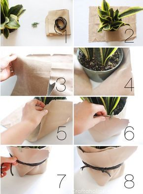 Craftaholics Anonymous® New decor for your home. Here is a leather tutorial to create art for your plants!Seriously one of the most stunning planters I've seen! This Leather Planter offers texture and shape in a simple, yet dramatic way.