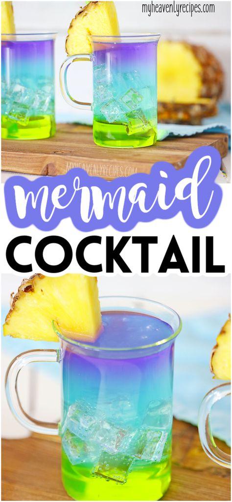 Layered Mermaid Cocktail