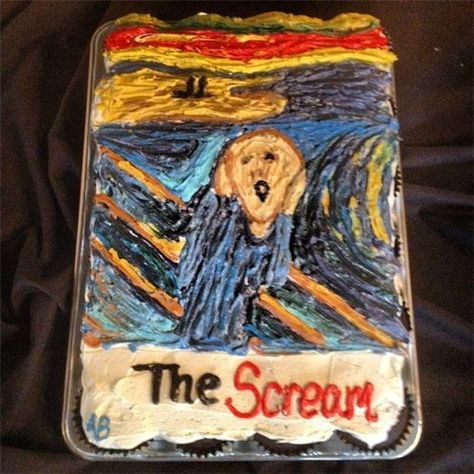 The Scream Cupcake Art    Hand painted cupcakes for Fall Art Walk 2012 by Andrew of Firefly Cupcakes