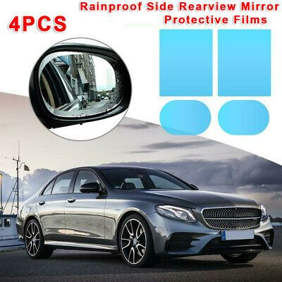 4 PCS Car Waterproof Wing Mirror Film Anti Fog Rainproof Rear View Mirror Films