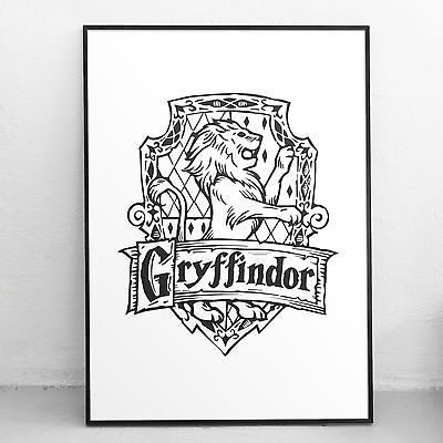 Harry Potter Art Print Gryffindor Crest