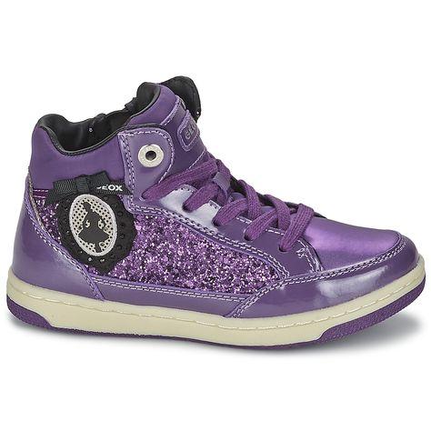 Super awesome purple glitter high tops