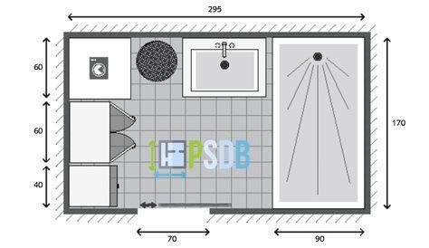 Plan De Salle De Bain De 5m2 Sdb En 2019 Plan Salle De