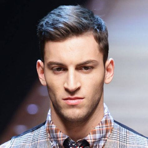 Men's hair with a side part.- finding my husband a new do