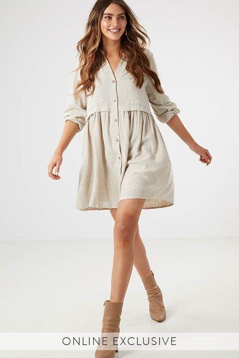 Simona Shirt Dress Ally Fashion Shirt Dress Knitwear Dress Shirt Dress Style