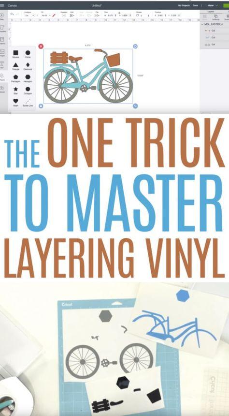The One Trick to Master Layering Vinyl – Makers Gonna Learn – Diy Poject Ideas Cricut Air 2, Cricut Help, Cricut Iron On Vinyl, Tips And Tricks, Vinyle Cricut, 3d Laser Printer, Cricut Explore Projects, Cricut Project Ideas, Cricut Vinyl Projects