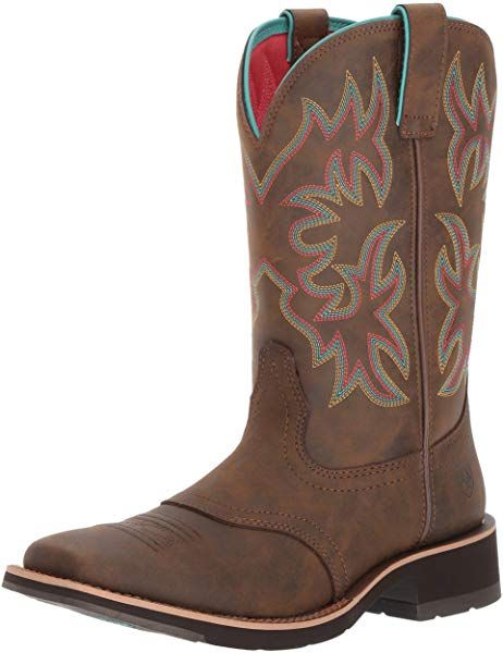 dee97a78eaeb3 Amazon.com | ARIAT Women's Delilah Western Boot Toasted Brown Size 8 ...