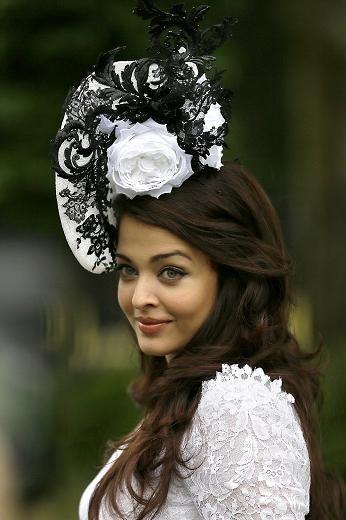 Noir et Blanc Bandeau /& Pince Chapeau Bibi Mariages ladiesday Race Royal Ascot