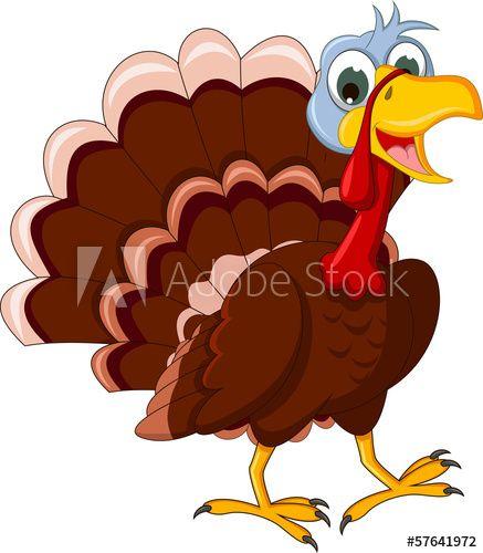 Funny Turkey Cartoon Posing Turkey Cartoon Thanksgiving Art Turkey Clip Art