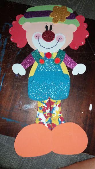 Aplique de Payaso 50 cm #clown #payaso #fofuchoplano #muñeco ...