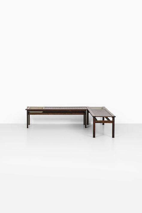 A Pair Of Rosewood Benches With Flower Box Produced By Averskogs In Sweden    Japanese Wood   Pinterest   Flower Boxes, Desks And Woods