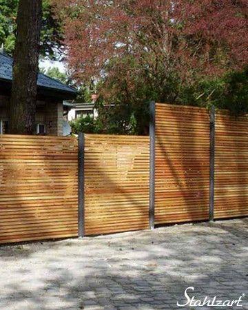 Sichtschutzzaun Holz Larche Metall Anthrazit Modern Stahlzart Sichtschutzzaun Holz Sichtschutz Garten Holz Sichtschutzzaun