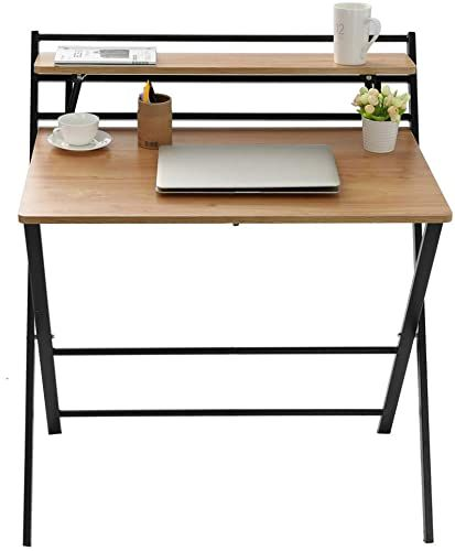 Best Seller Small Folding Desk Computer Desk Small Space Home Office Simple Laptop Writing Table No Assembly Required Khaki Online In 2020 Desks For Small Spaces Computer Desk Small Space Folding