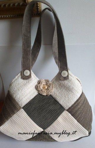 rivenditore di vendita 735c8 ee7b7 cucito creativo borsa patchwork   Sewing   Borse patchwork ...