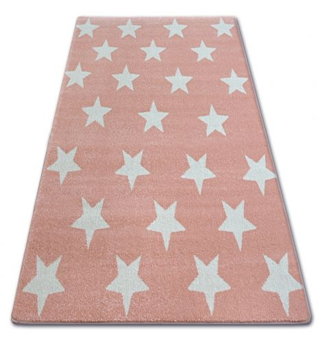 Dywan Malmo Fa68 Komfort Różowy Kremowy Gwiazdki