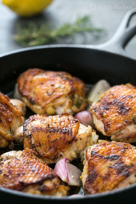 Skillet Lemon Rosemary Chicken