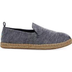 Toms Schuhe Dunkelblau Chambray Deconstructed Alpargatas Espadrilles Für Damen - Größe 42.5 TomsToms