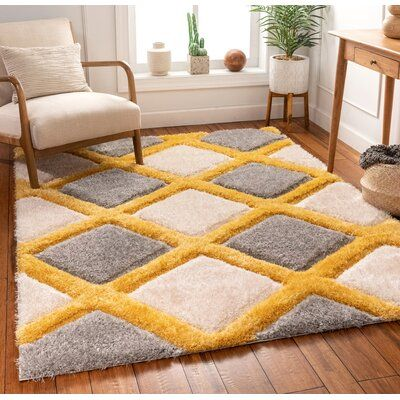 Well Woven San Francisco Shag Yellow Gray Area Rug In 2021 Area Rugs Grey And White Rug Neutral Area Rugs