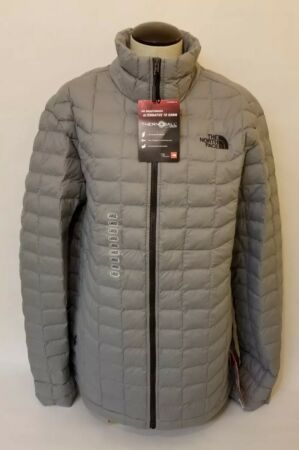 Large The North Face Men/'s Thermoball Matte Gray Jacket Coat Size