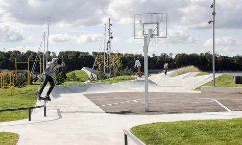 Lemvig Skatepark Med Billeder Landskabsarkitektur Arkitektur Landskabsdesign