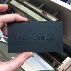 White Screen Printing + blind embossing. Business cards printed on Sable Black Senses Paper by Dot Studio, London. #embossed #businesscards #dotstudio #print #london #embossing #blindembossing #screenprintedbusinesscards #screenprint #whiteprint #madewithsenses #sableblack #blackbusinesscards