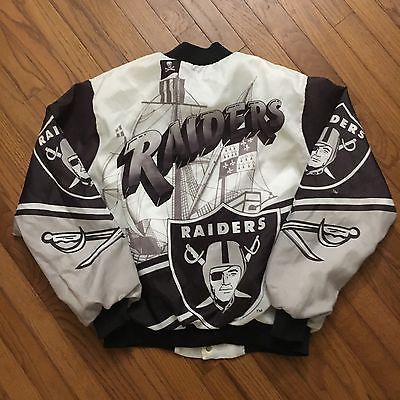 reputable site 2ff3c bed0a Details about Vintage Los Angeles Raiders Chalkline Satin ...