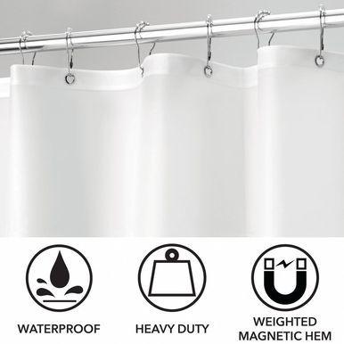 Long Vinyl Shower Curtain Liner For Bathroom 72 X 84 Vinyl