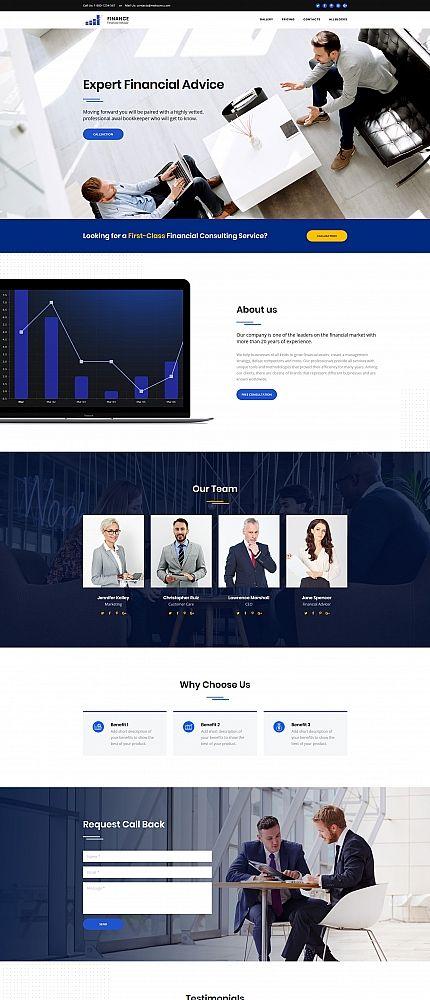 Financial Advisor Motocms 3 Landing Page Template Corporate Website Templates Financial Advisors Web Design Tips