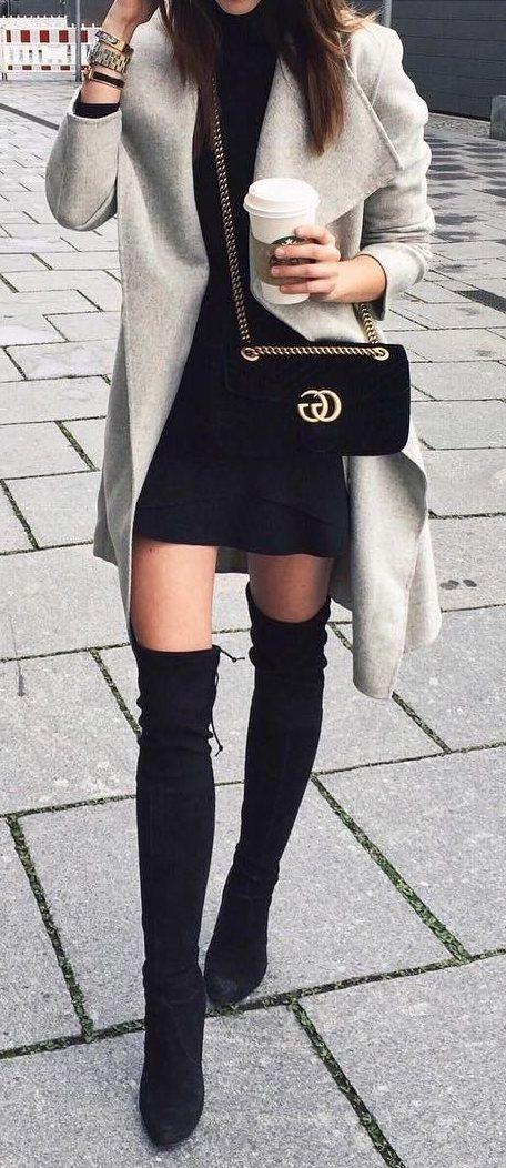 schwarzes kleid kombinieren schuhe 10 besten Outfits