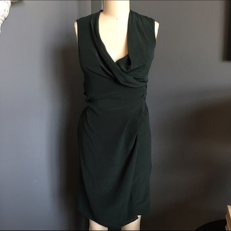 f956b4ad3a1 NWT All Saints bottle green wrap dress Very flattering. Can be worn as a  dress or open as a vest. New with tags. All Saints Dresses