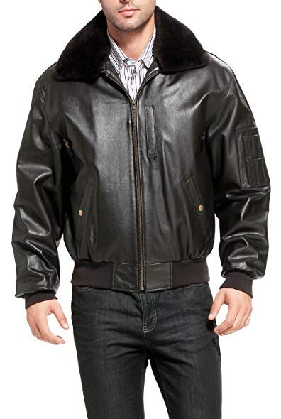 c7e09a2a2 Landing Leathers Men's Air Force B-15 Leather Flight Bomber Jacket ...