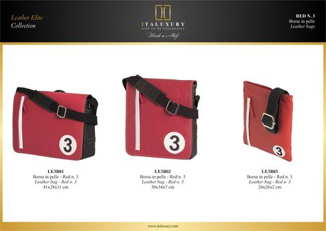 #Borse in #pelle - Red n. 3 / #Leather #bags - Red n. 3 by ITALUXURY | #Luxury Leather Goods & Accessories - Made in Italy. Website: www.italuxury.com