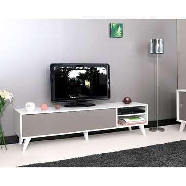 Tv Kast Leenbakker.Symbiosis Tv Meubel Heidal Wit Taupe 43 2x165x40 Cm Home