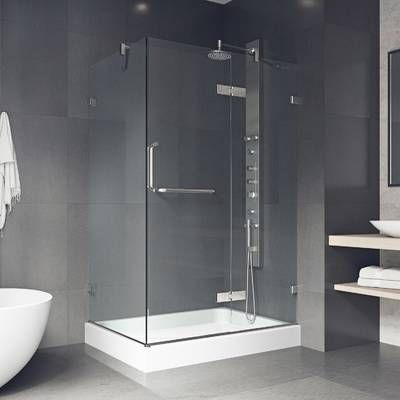 Ove Decors Sierra 48 X 82 Rectangle Sliding Shower Enclosure With Base Included Reviews W Fiberglass Shower Enclosures Shower Enclosure Fiberglass Shower