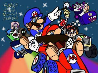 Smg4 Stupid Mario Kart Double Dash By Ultrasponge Fan Art