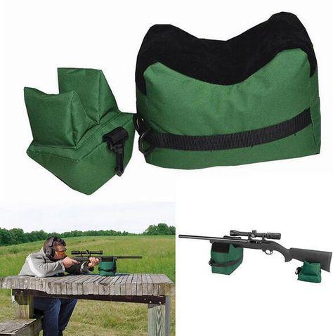 Front/&Rear Bag Support Rifle Sandbag For Rifle Airsoft Gun Rest Adjust Shooting