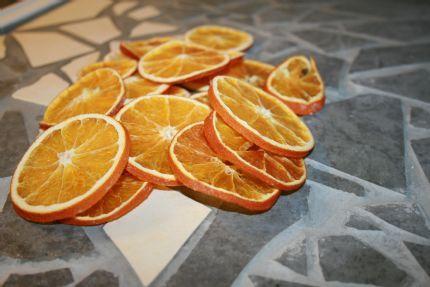 Torkade apelsinskivor